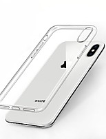 Недорогие -Кейс для Назначение Apple iPhone X Защита от удара / Ультратонкий / Прозрачный Кейс на заднюю панель Однотонный Мягкий ТПУ для iPhone X