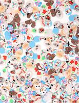 preiswerte -10000 pcs Frucht-Fimo-Scheiben Beste Qualität Zeichentrickserie Weihnachtsbaum Nagel Kunst Maniküre Pediküre Festival Modisch