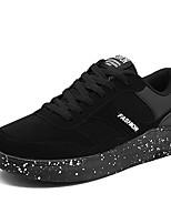 Недорогие -Муж. Комфортная обувь Полиуретан Осень На каждый день Кеды Доказательство износа Черный / Черно-белый / Черный / Красный