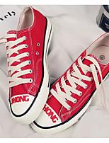 Недорогие -Муж. Комфортная обувь Полотно Весна & осень Кеды Черный / Желтый / Красный