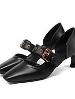 Недорогие -Жен. Балетки Наппа Leather Лето Обувь на каблуках На шпильке Черный / Коричневый