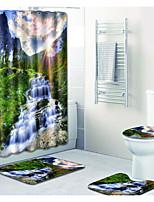 Недорогие -1 комплект Modern Коврики для ванны 100 г / м2 полиэфирный стреч-трикотаж / Специальный материал Цветочный принт Прямоугольная Ванная комната Новый дизайн