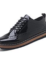 Недорогие -Муж. Комфортная обувь Искусственная кожа / Полиуретан Осень На каждый день Туфли на шнуровке Нескользкий Черный / Темно-синий