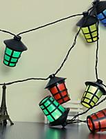 Недорогие -2,5м Гирлянды 10 светодиоды Разные цвета Новый дизайн / Декоративная / Cool Аккумуляторы AA