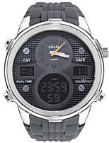 Недорогие -SMAEL Муж. Спортивные часы электронные часы Японский Цифровой 50 m Защита от влаги Календарь Секундомер силиконовый Группа Аналого-цифровые На каждый день Мода Черный / Серый -