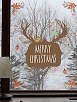 Недорогие -Оконная пленка и наклейки Украшение Рождество Праздник ПВХ Cool / Магазин / Кафе