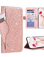 baratos -Capinha Para Apple iPhone XR / iPhone XS Max Porta-Cartão / Antichoque / Flip Capa Proteção Completa Glitter Brilhante Rígida PU Leather / PC para iPhone XR / iPhone XS Max