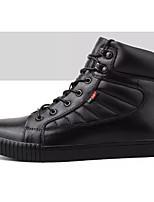 Недорогие -Муж. Комфортная обувь Наппа Leather Весна & осень На каждый день Кеды Черный
