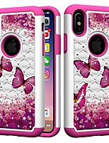 abordables -Coque Pour Apple iPhone XR / iPhone XS Max Antichoc / Strass Coque Papillon / Strass Dur PC pour iPhone XS / iPhone XR / iPhone XS Max