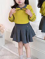 Недорогие -Дети Девочки Полоски / Пэчворк Длинный рукав Набор одежды
