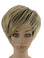cheap -Synthetic Wig Straight Blonde Layered Haircut Synthetic Hair 10 inch Adjustable / Heat Resistant / Women Blonde Wig Women's Short Capless Dark Ash Blonde