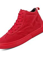 Недорогие -Муж. Комфортная обувь Полиуретан Осень На каждый день Кеды Водостойкий Черный / Серый / Красный