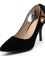 Недорогие -Жен. Комфортная обувь Замша Весна Обувь на каблуках На шпильке Черный / Красный / Синий
