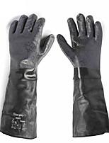 Недорогие -19-024 кожзаменитель / резиновые / жаропрочные волоконные перчатки 0,3 кг