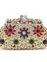 baratos -Mulheres Bolsas Liga Bolsa de Mão Detalhes em Cristal / Vazados Dourado / Prateado
