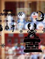 Недорогие -Оконная пленка и наклейки Украшение Рождество Простой / Праздник ПВХ Cool / Милый / Магазин / Кафе