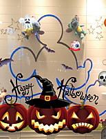 Недорогие -Оконная пленка и наклейки Украшение Хэллоуин Праздник / Классика ПВХ Cool