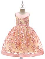 Недорогие -Дети / Дети (1-4 лет) Девочки Цветочный принт Без рукавов Платье
