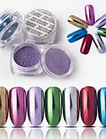 billiga -1 pcs Löst puder Bästa kvalitet Kreativ nagel konst manikyr Pedikyr Dagligen Stilig / Färgglad