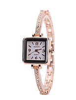 cheap -Women's Dress Watch Wrist Watch Quartz New Design Casual Watch Imitation Diamond Alloy Band Analog Fashion Elegant Rose Gold - Rose Gold One Year Battery Life