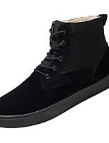 Недорогие -Муж. Комфортная обувь Полиуретан Осень На каждый день Кеды Нескользкий Черный / Миндальный / Хаки