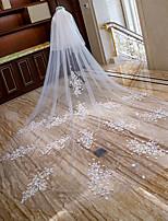 Недорогие -Два слоя С цветами / Милый стиль Свадебные вуали Фата для венчания с Аппликации Кружева / Тюль