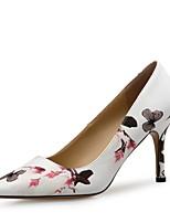 abordables -Femme Escarpins Polyuréthane Printemps été Doux / Minimalisme Chaussures à Talons Talon Aiguille Bout pointu Blanc / Noir / Bleu / Soirée & Evénement