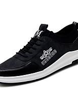 Недорогие -Муж. Комфортная обувь Искусственная кожа Осень На каждый день Кеды Дышащий Черный / Серый / на открытом воздухе