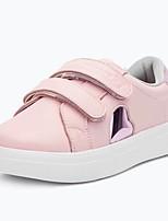 Недорогие -Девочки Обувь Кожа Весна & осень Удобная обувь Кеды Шнуровка для Дети Белый / Черный / Розовый