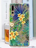 Недорогие -Кейс для Назначение Huawei P20 Pro / P20 lite Прозрачный / С узором Кейс на заднюю панель Пейзаж Мягкий ТПУ для Huawei P20 / Huawei P20 Pro / Huawei P20 lite
