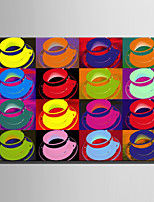cheap -Print Rolled Canvas Prints / Stretched Canvas Prints - Still Life / Pop Art Modern