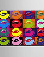 billige -Print Valset lærred Udskriv / Strukket Lærred Print - Sille Liv / Popkunst Moderne