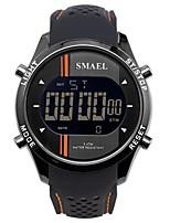 Недорогие -SMAEL Муж. Спортивные часы электронные часы Японский Японский кварц 50 m Защита от влаги Календарь Секундомер силиконовый Группа Цифровой На каждый день Мода Черный / Небесно-голубой -