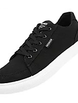 Недорогие -Муж. Комфортная обувь Полотно Осень На каждый день Кеды Дышащий Черный / Серый / Красный