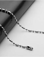 baratos -Homens Fio Único Colares em Corrente - Aço Inoxidável Europeu Prata 55 cm Colar Jóias 1pç Para Diário
