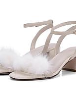 Недорогие -Жен. Комфортная обувь Замша Лето Обувь на каблуках На толстом каблуке Розовый / Миндальный