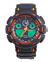 Недорогие -SMAEL Муж. Спортивные часы Японский Цифровой 50 m Защита от влаги Календарь Секундомер Plastic Группа Аналого-цифровые Мода Черный - Черный / Синий Оранжевый / черный
