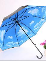 Недорогие -Нержавеющая сталь Все Солнечный и дождливой / Новый дизайн / Cool Зонт-трость