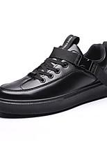 Недорогие -Муж. Комфортная обувь Полиуретан Осень На каждый день Кеды Доказательство износа Черный / Бежевый / Черный / Красный