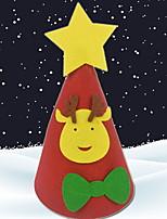 baratos -Ornamentos Natal Plástico Brinquedo dos desenhos animados Decoração de Natal