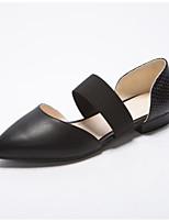 Недорогие -Жен. Комфортная обувь Полиуретан Весна На плокой подошве На низком каблуке Черный / Бежевый / Свадьба