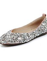 baratos -Mulheres Sapatos Confortáveis Sintéticos Outono Rasos Sem Salto Ponta Redonda Preto / Amarelo / Rosa Claro / Casamento / Festas & Noite