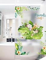 billiga -Fönsterfilm och klistermärken Dekoration Blom / Nutida Blommig / Geometrisk pvc Vattenfrånstötande / Ny Design