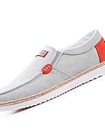 baratos -Homens Sapatos Confortáveis Lona Outono Casual Mocassins e Slip-Ons Não escorregar Estampa Colorida Preto / Cinzento / Azul