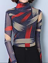 Недорогие -женская плюшевая блузка размера - цветная водолазка