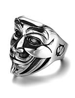 preiswerte -Herrn Stilvoll / Skulptur Bandring / Statement-Ring / Ring - Kreativ, Gesicht Künstlerisch, Punk, Gothic 7 / 8 / 9 Silber Für Karnival / Klub