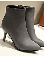billiga -Dam Fashion Boots Syntet Vinter Stövlar Stilettklack Stängd tå Korta stövlar / ankelstövlar Röd / Blå / Rosa