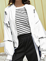 cheap -Women's Basic Jacket - Solid Colored / Striped