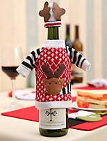 Недорогие -Мешки для вина Новогодняя тематика / Праздник Хлопковая ткань куб Для вечеринок / Оригинальные Рождественские украшения