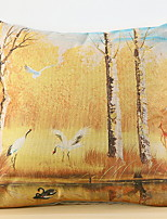 abordables -1 pcs Polyester Housse de coussin, arbres / Feuilles Moderne / Contemporain